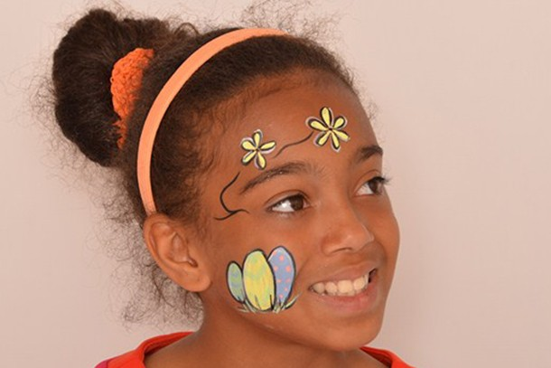 Easter Face Painting Ideas For Kids Colourful Easter Eggs And Flowers Madeformums