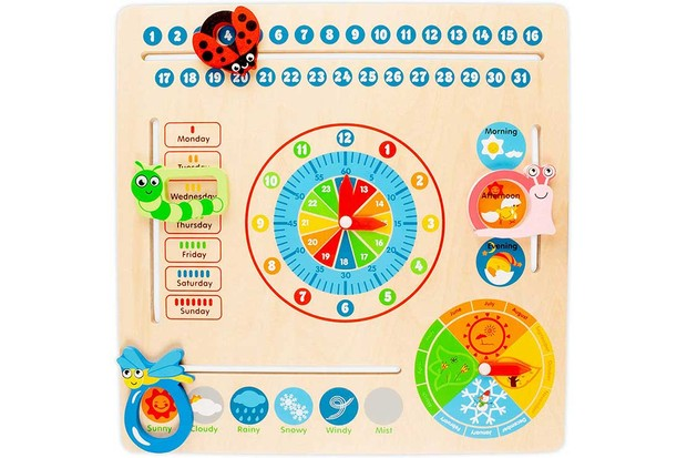 Milly-&-Ted-Wooden-Educational-Clock