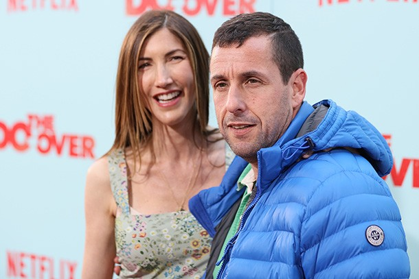 Adam Sandler, Jackie Sandler, Sadie and Sunny - birth dates