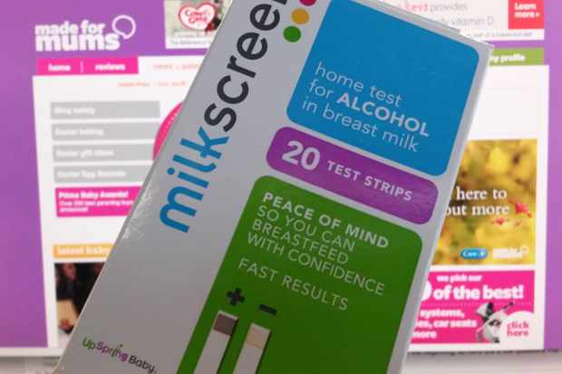 Milkscreen alcohol test strips for breast milk - MadeForMums