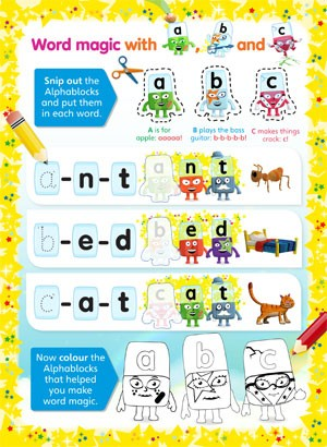 Alphablocks Activity Sheets For Toddlers Madeformums
