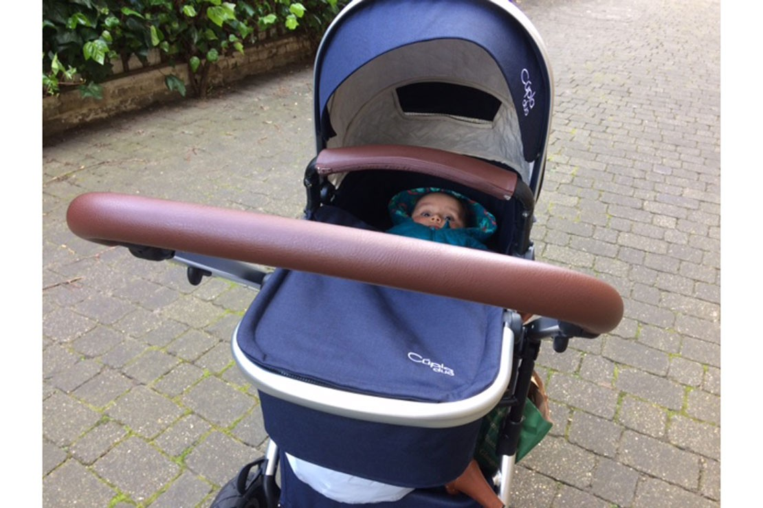 The Cupla Duo carrycot is suitable from birth