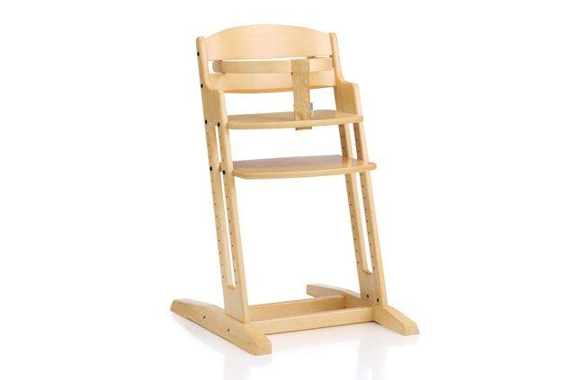 White BabyDan DanChair Wooden Highchair