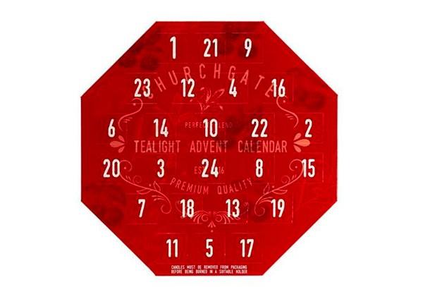 advent calendar tealights