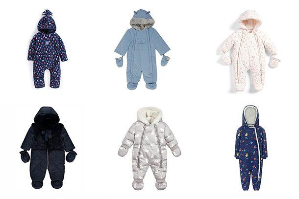 M/&S Baby Snowsuit Newborn Floral All in One Pramsuit Ski Suit 0-3 3-6 9-12 12-18
