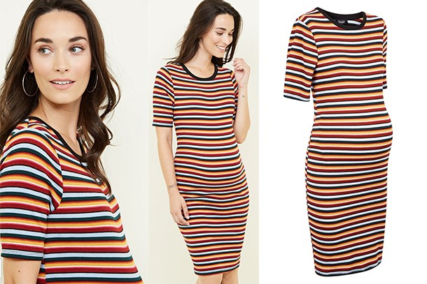 new look stripe maternity