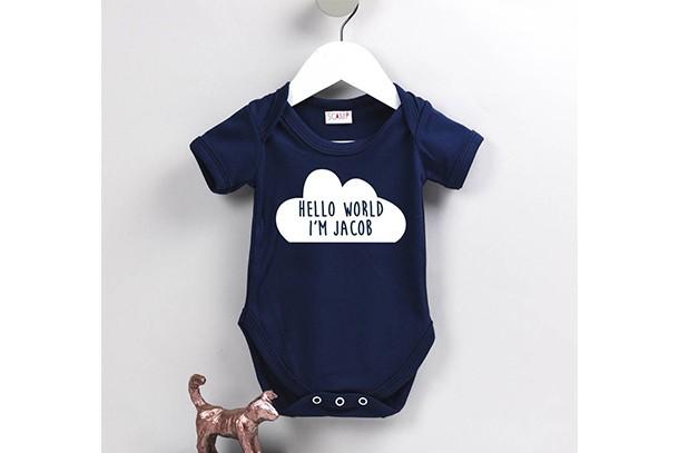 personalised cloud babygrow