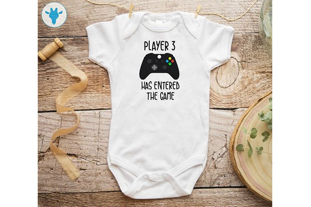 player 3 has entered the game baby grow