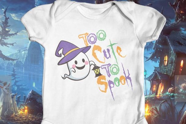 too cute to spook bodysuit