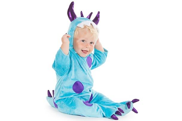 baby blue monster costume