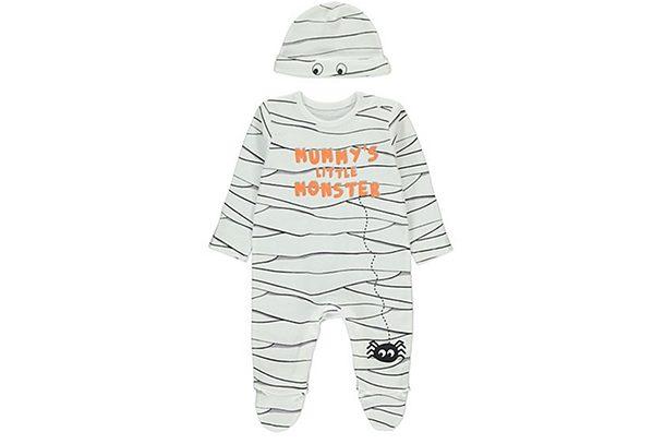 John Lewis Baby Halloween Bat Romper /& Hat Orange 3-6 Months Brand New