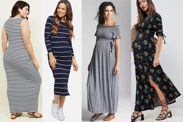 ef8d35636465 Best pregnancy maxi dresses for UK 2018 - MadeForMums