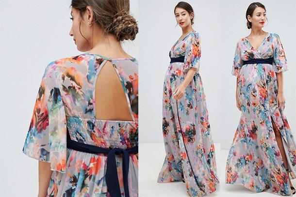 13bf9aacad43a Little Mistress Maternity Plunge Front Maxi Dress, £90