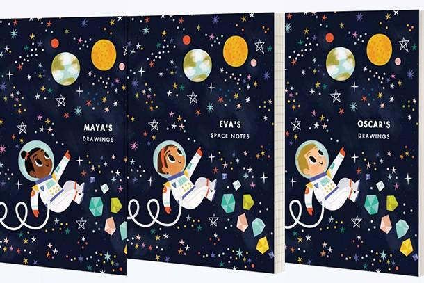 papier astronaut girl and boy