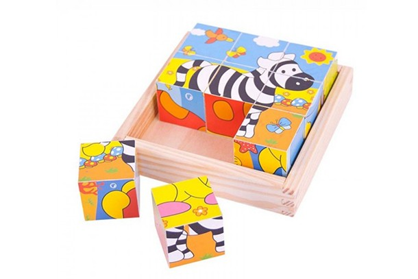 safari animal cube puzzles