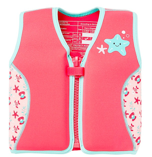 mothercare pink life jacket