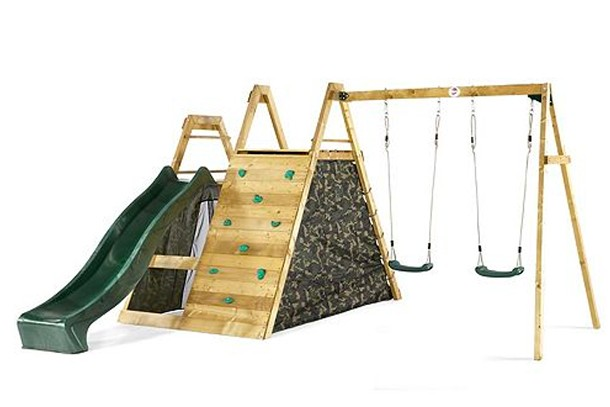 plum pyramid swing slide set