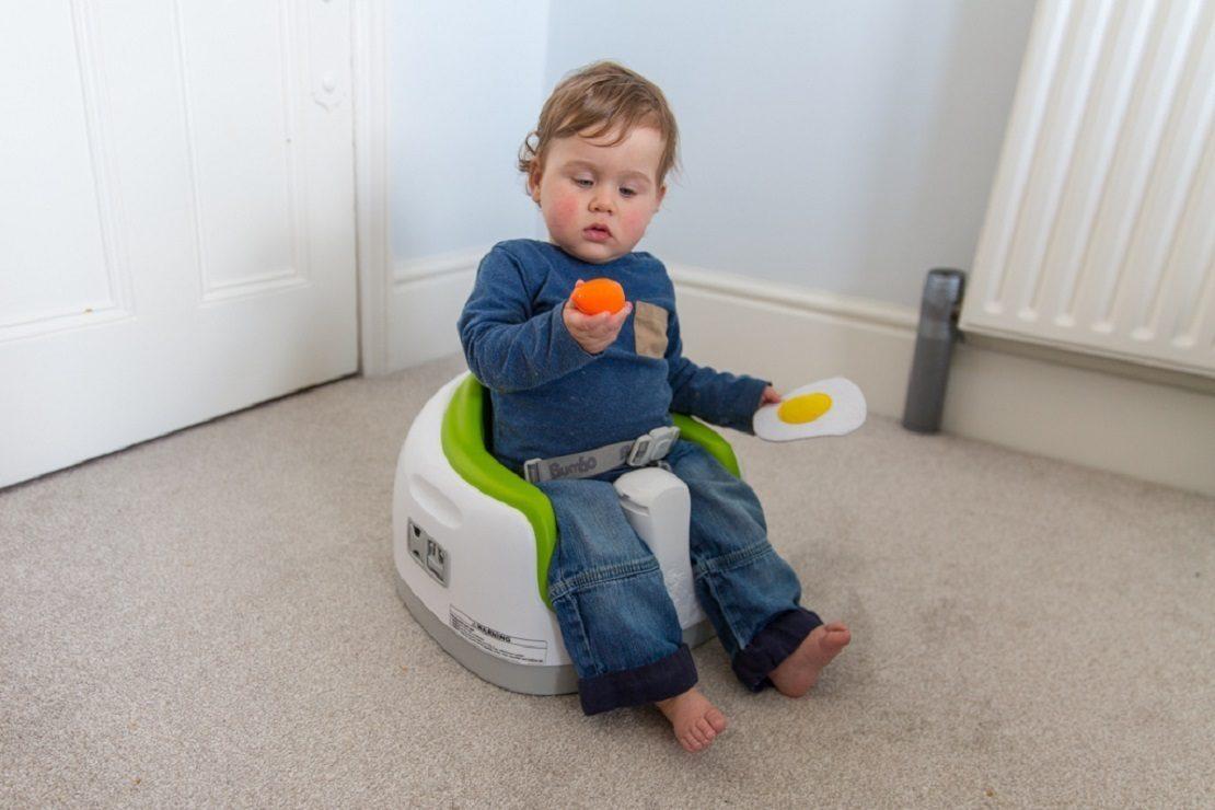 Baby Honest Bumbo Floor Seat In Blue For 3-12 Mo.