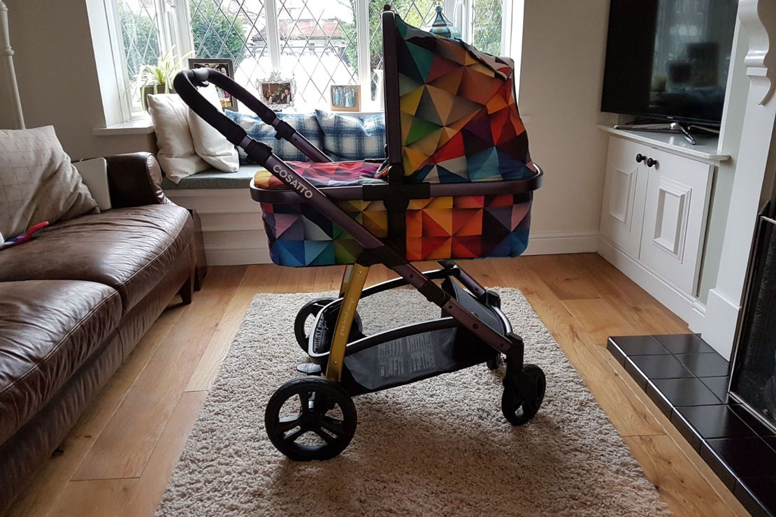 The Cosatto Wow has a very comfortable carrycot