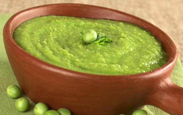 courgette pea and kale puree