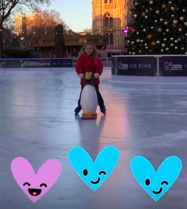 harper beckham skating