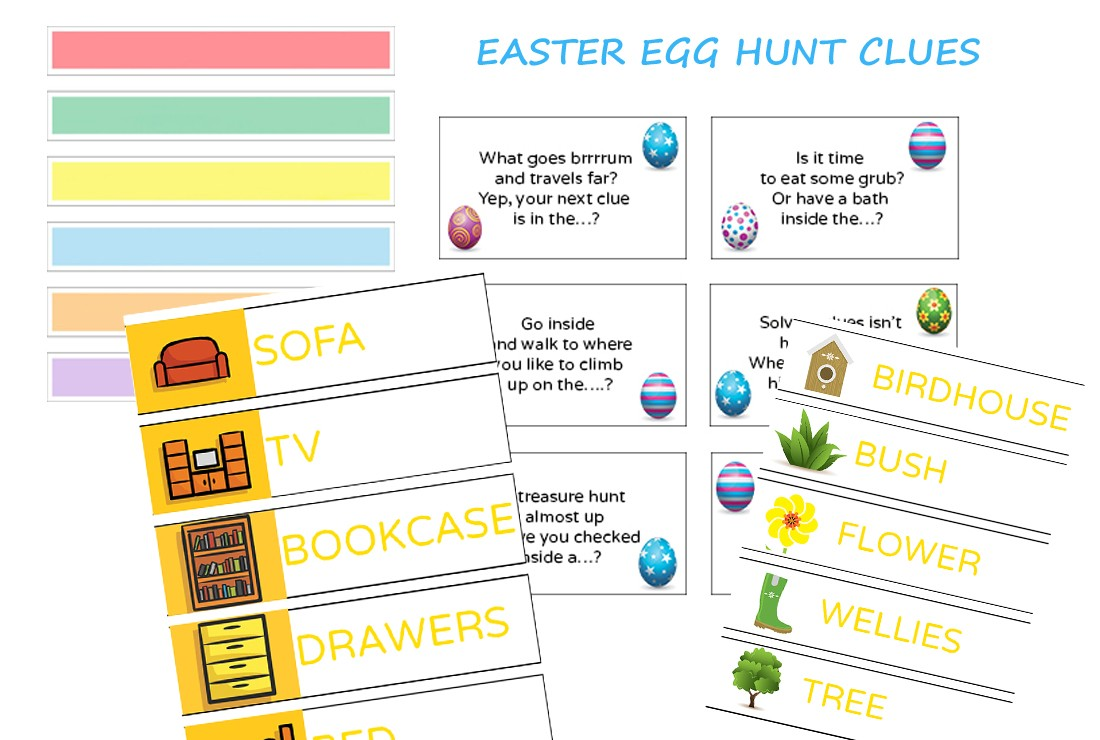 Collection of Easter egg hunt clues