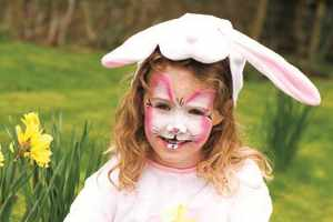 how to face paint an Easter bunny
