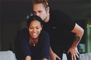 Zoe Saldana And Husband Post Picture On Instagram As They Push Their