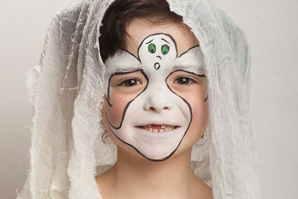 ghost face paint tutorial