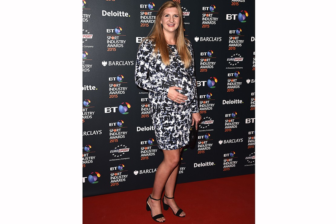 frankie-bridge-and-rebecca-adlington-show-off-baby-bumps-in-clashing-dresses_88320