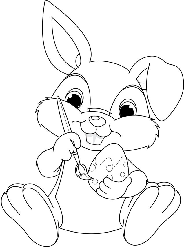 Easter activity sheets for colouring. Free to download