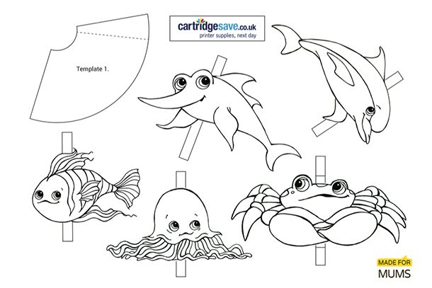 image about Printable Puppets known as Getting Dory themed printable finger puppets - MadeForMums