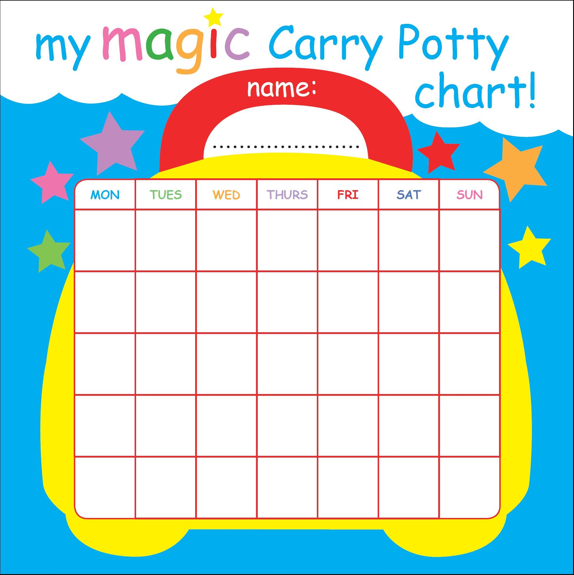 graphic about Printable Sticker Chart identify Totally free print-out gain chart for your potty exercising little one