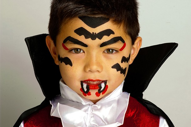 little vampire face paint