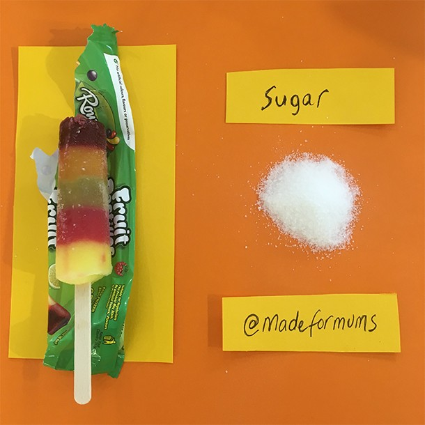 fruit pastille lolly sugar content
