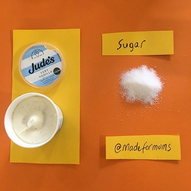 judes vanilla mini tub sugar content