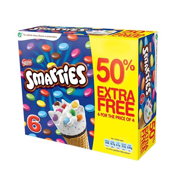 smarties ice cream cone