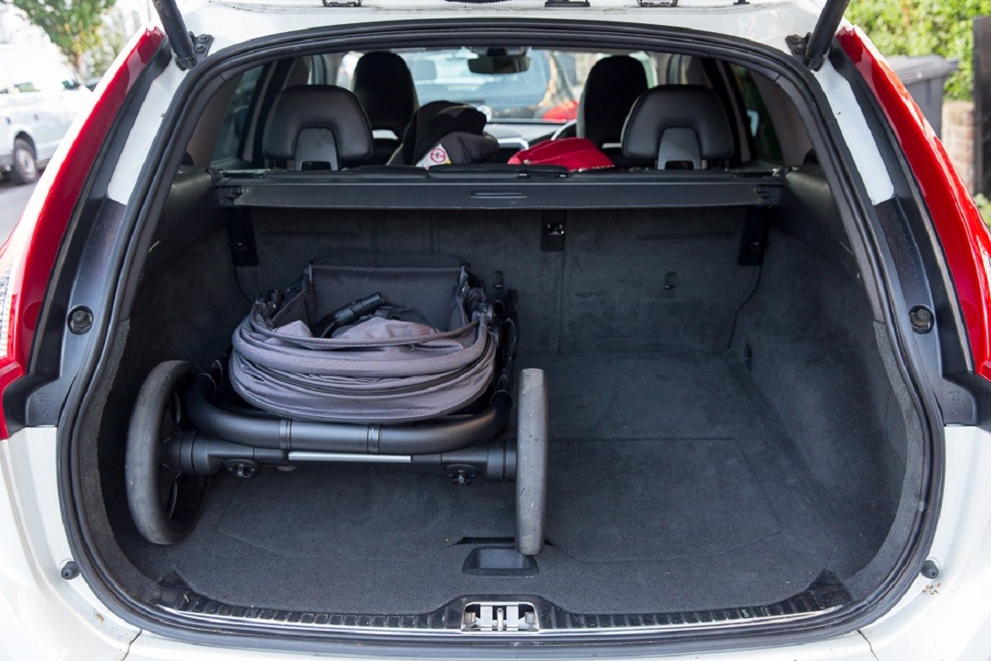 iCandy Orange folds easily into the boot of a Volvo