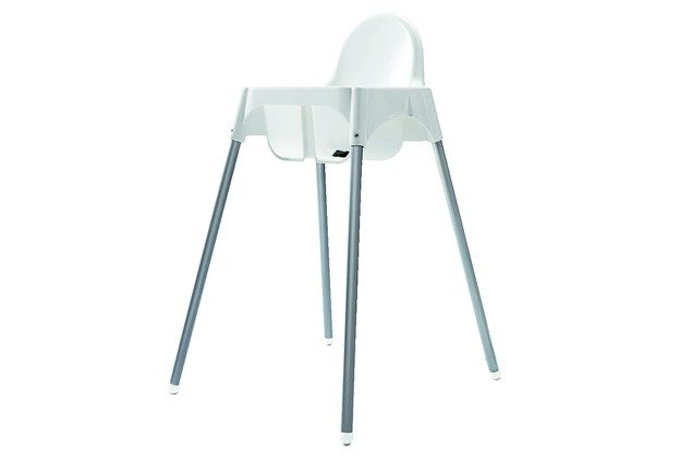 IKEA ANTILOP HIGHCHAIR BABY WHITE SILVER TRAY STRAPS HIGH CHAIR