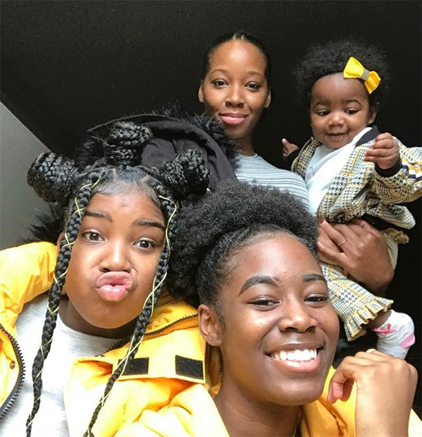 jamelia and her daughters