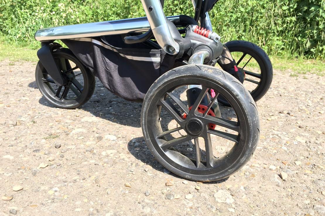 Jane Trider has puncture proof wheels