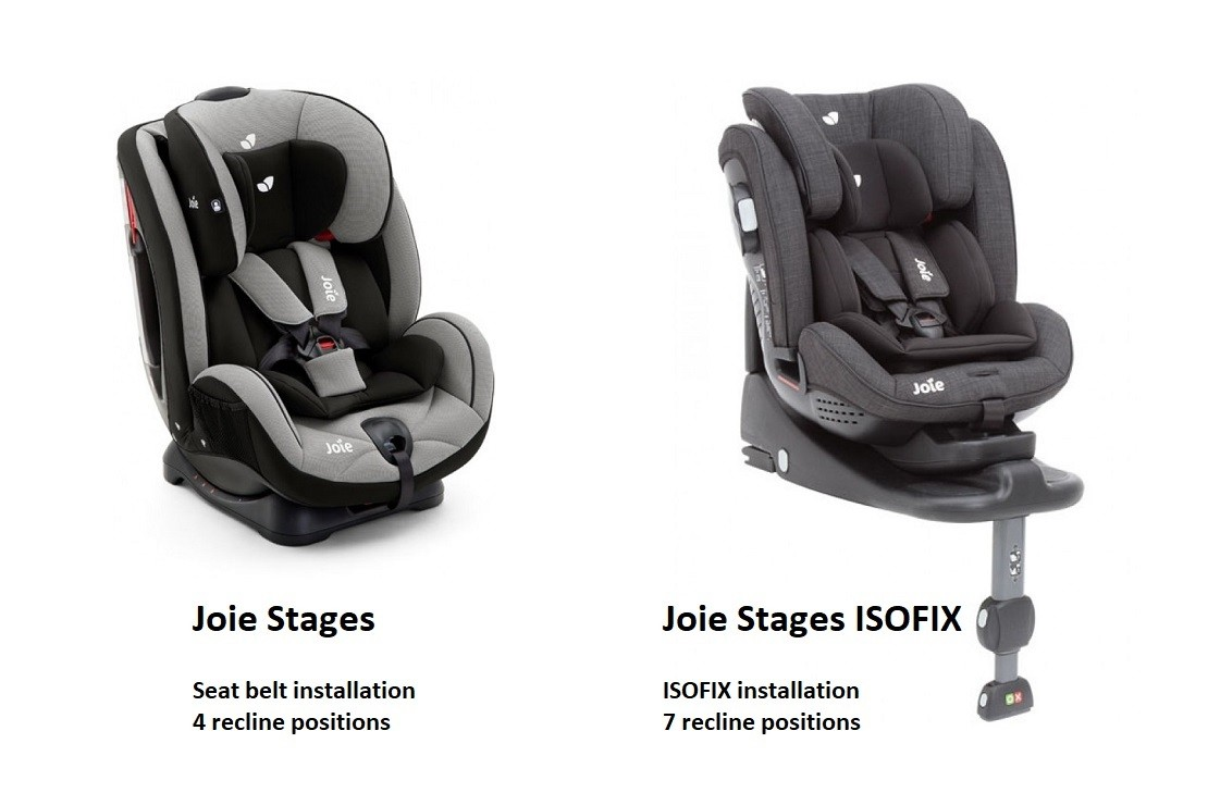 Joie Stages v Joie Stages ISOFIX
