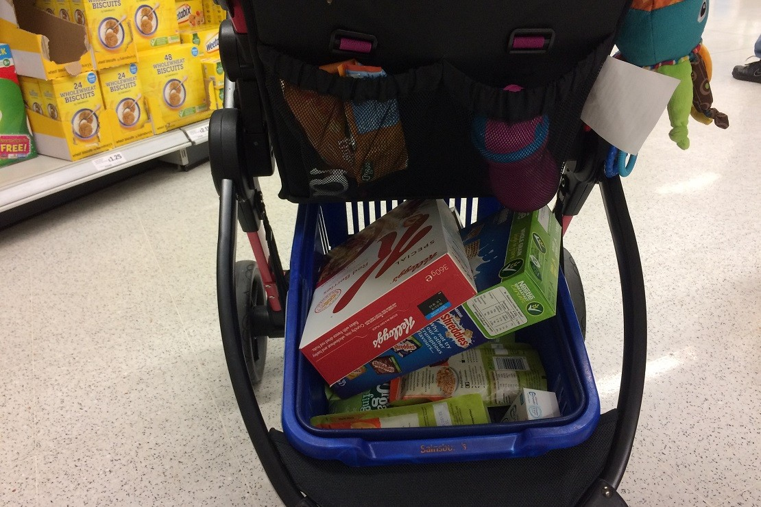 The Koochi Modhero basket fits a supermarket basket