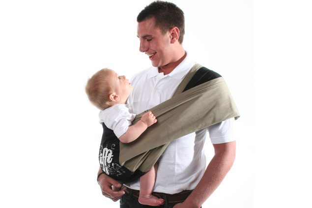 Black Lifft Slings Stretchy Wrap Baby Carrier