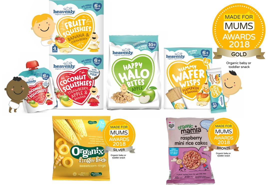 Organic baby and toddler snack winners MFM Awards 2018