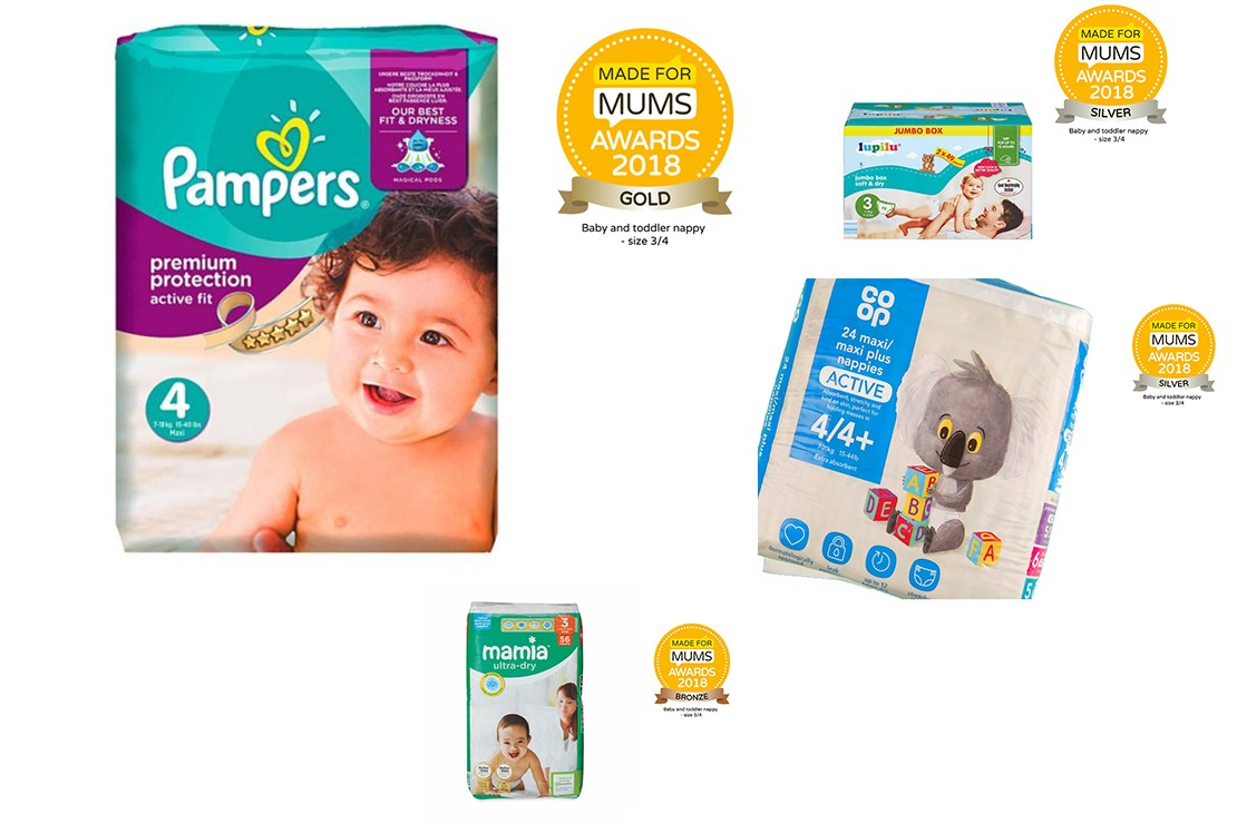 Baby and toddler nappy size 3/4 MFM Awards winners 2018