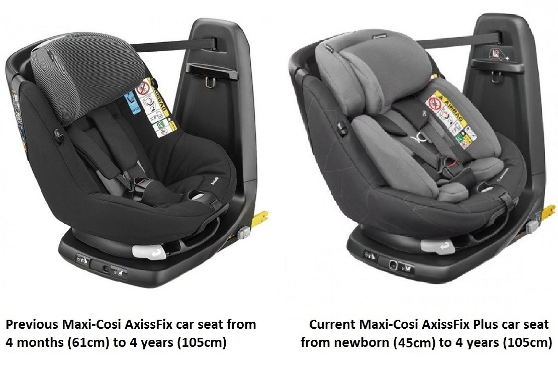 Maxi-Cosi AxissFix Plus is now suitable from birth