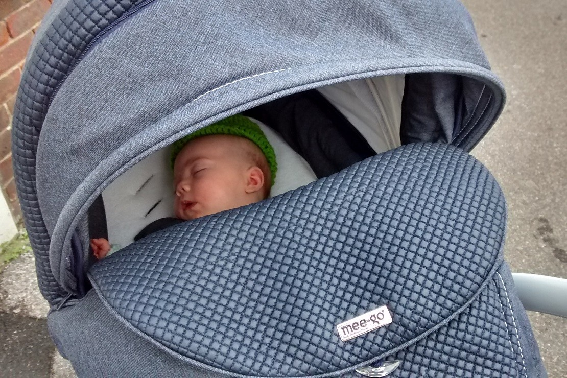 The Mee-Go Milano carrycot is very cosy