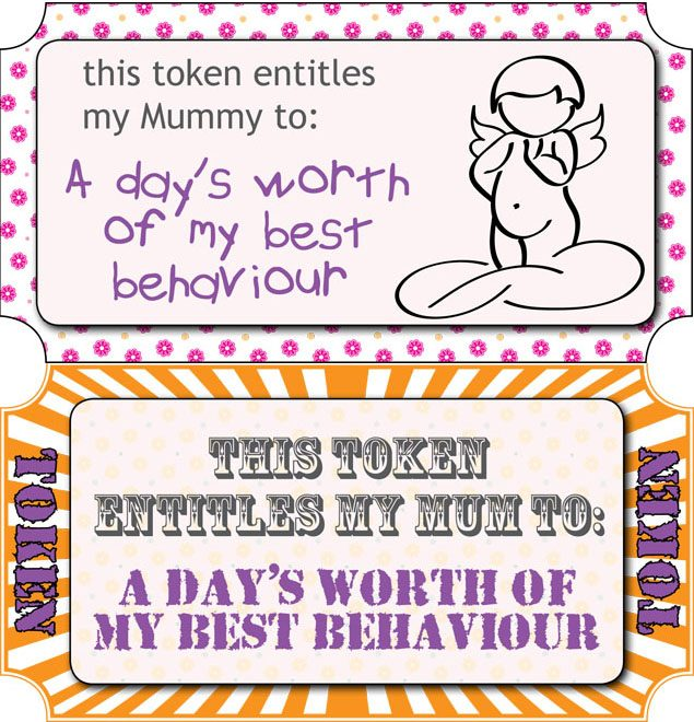photo relating to Printable Tokens identified as Moms Working day totally free vouchers - towards print out - MadeForMums