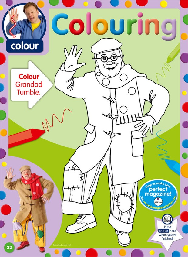 Mr Tumble Colour Activity Sheets Free To Download And Print Madeformums